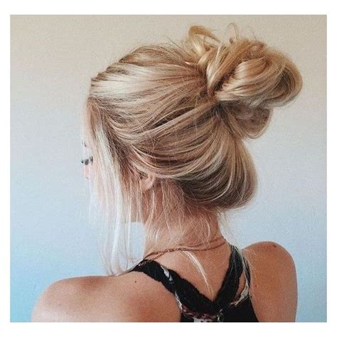 Bun Hairstyles Tools by Bun Hair Liked On Polyvore Featuring