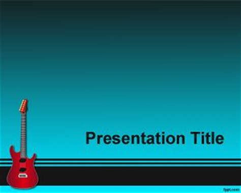 Powerpoint Design Vorlagen Musik Free Electric Guitar Powerpoint Template Is A Free Ppt Theme For Presentations On You Can