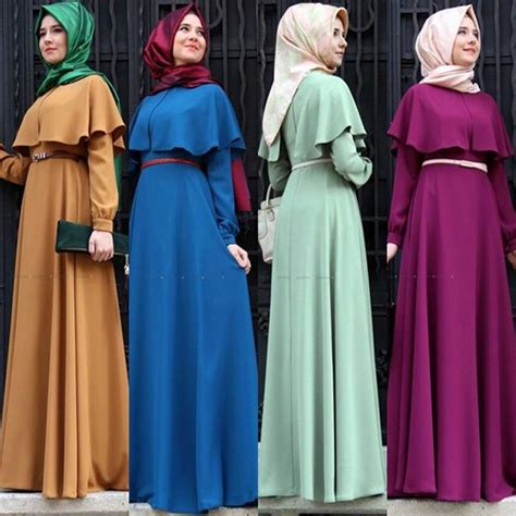 Gamis Fashion Turkez Maron by New Personality Cape Style Abaya Turkish Clothing