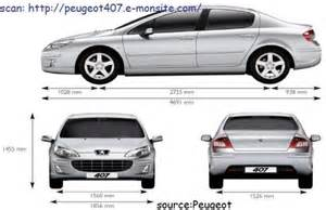 Peugeot 407 Sw Dimensions Peugeot 307 Sw Dimensions Coffre Inspiration Voitures