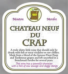 new funny wine label and gift bag novelty rude joke party