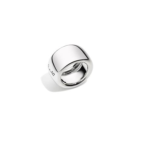 pomellato uk pomellato67 ring pomellato 67 in silver transparent lyst