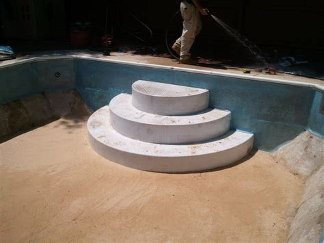 Wedding Steps by Before After Photos Of Swimming Pool Construction