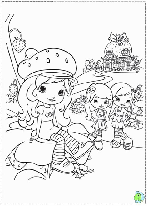 coloring pages strawberry shortcake az coloring pages