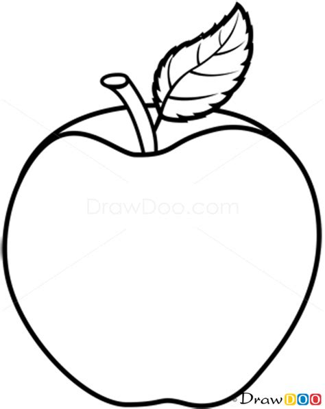 how to draw apple fruits