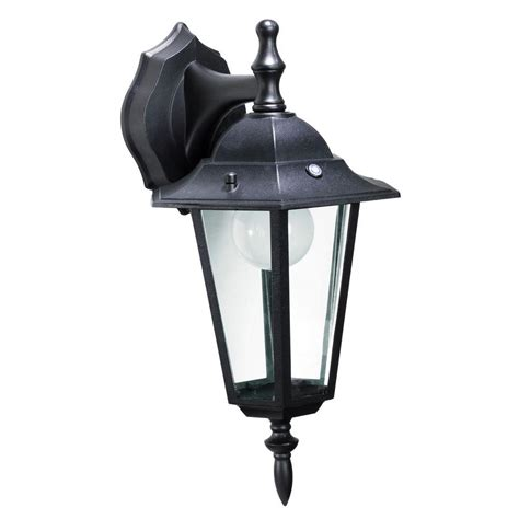 black outdoor wall lantern home decorators collection outdoor black pocket led wall