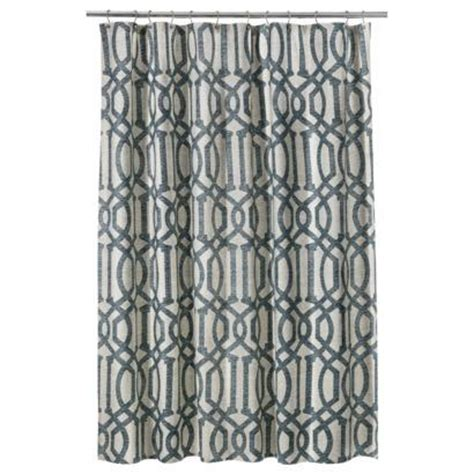 gray shower curtain target threshold fretwork shower curtain gray i target