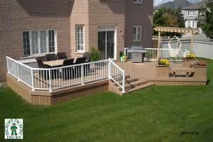 2 deck plans 2 level diy deck plans