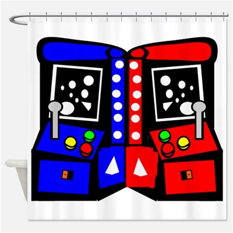 gaming shower curtains arcade games shower curtains arcade games fabric shower