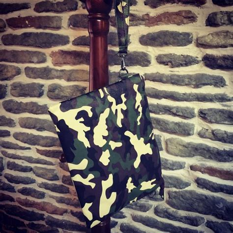 Camouflage Clutch camouflage leather look clutch