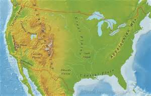 the united states map with rivers and mountains us mountain ranges map
