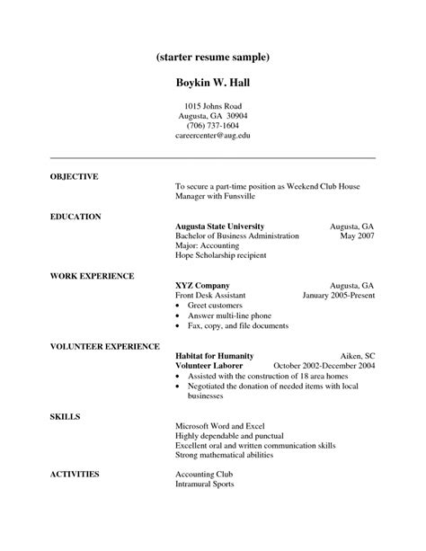 resume volunteer experience resume cover letter exle