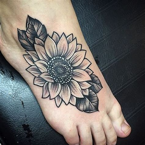 sunflower tattoo designs on foot 50 amazing sunflower ideas for creative juice