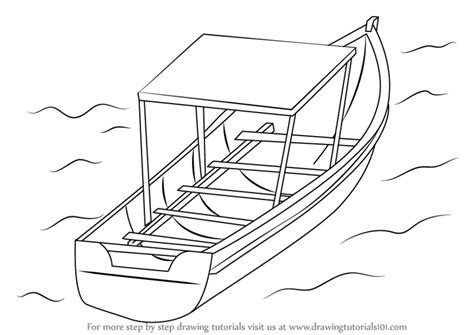 how to draw a fishing boat step by step learn how to draw boat in water boats and ships step by
