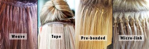 Types Of Weaves For Hair by Types Of Hair Extension Glue Discount Hair Extensions