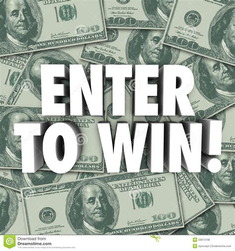 Contests Win Money - enter to win money dollars background contest raffle prize award stock illustration