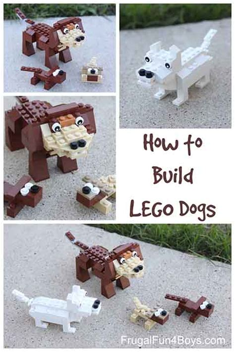 lego dog tutorial how to build lego dogs lil moo creations