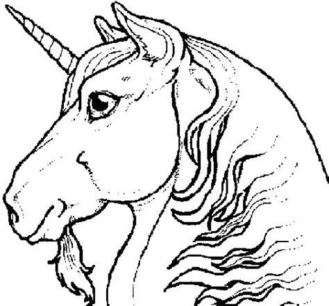 dibujo cabeza unicornio colorear dibujos net