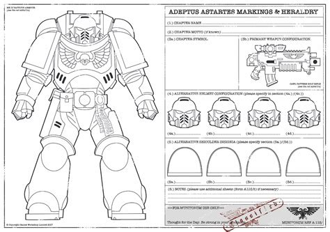 Space Marine Template make your own space marines challenge bell of lost souls