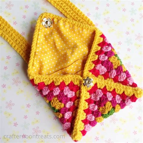 knitting pattern envelope purse granny envelope clutch bag tadah crafternoon treats