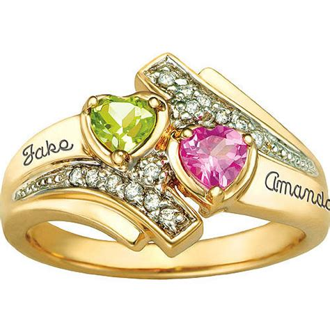 keepsake personalized serenade promise ring with