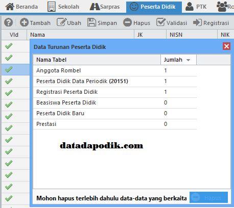 data dapodik info pendataan cara menghapus data peserta didik di dapodik data