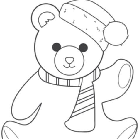 santa bear coloring page happy santa bear waving a greeting coloring page free