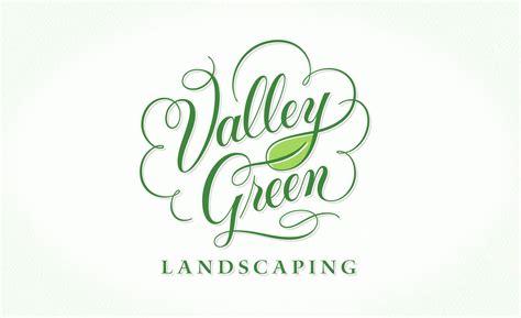 valley green landscaping logo design valley green landscaping