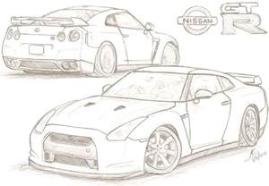 How To Draw A Nissan Gtr 2007 Nissan Gt R By Tougedrifting85 On Deviantart