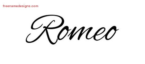 cursive name tattoo designs romeo free graphic free name