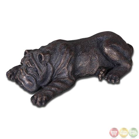 powell s puppy palace nap time traditional bronze iron puppy figurine 19632