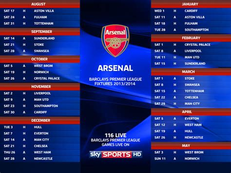 arsenal match result arsenal fixtures