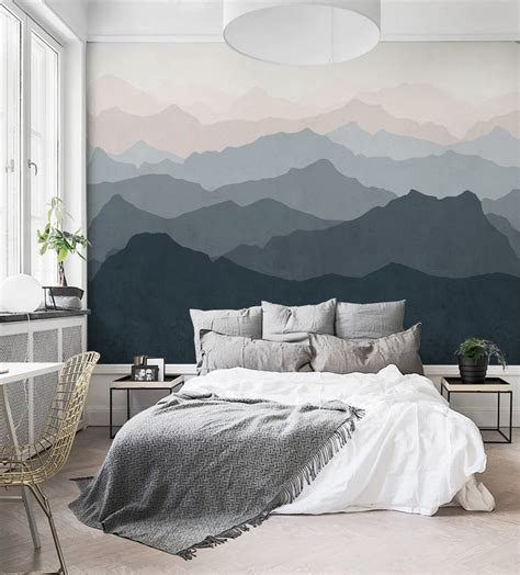 easy hang mural wall paper trend purewow