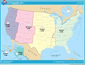 time zones united states map oc proposed simplified time zone map of the united