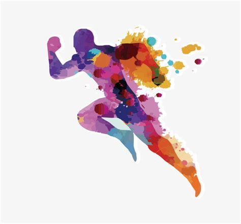 color marathon marathon running color material marathon creative