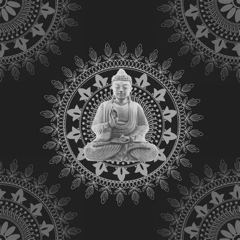 Black And Red Bedroom Walls - bonbon buddha wallpaper black silver 9704 wallpaper from i love wallpaper uk