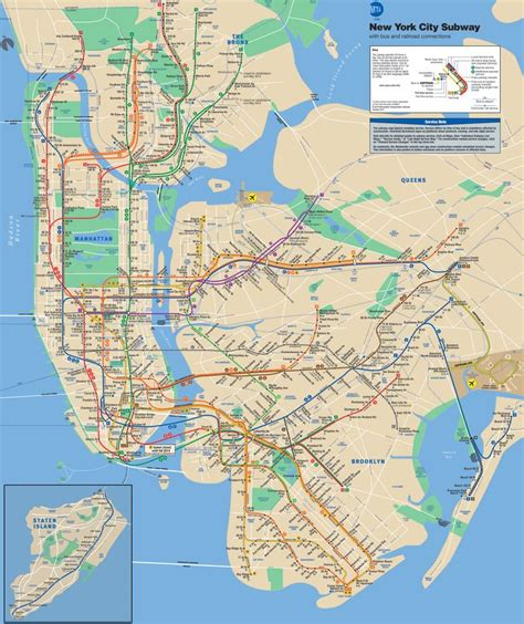 mta maps mta info mta subway map new york 2013