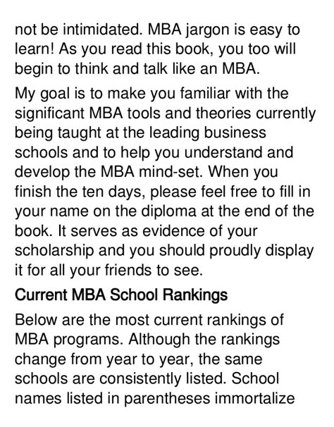 Mba In A Week Book by 10days Mba