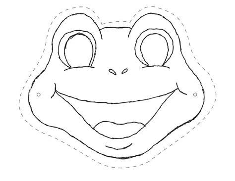 printable lizard mask template making frog mask