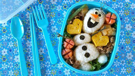 Ekkado Bento Frozen Food olaf bento lunch box disney frozen do you wanna build a snowman ochikeron create eat