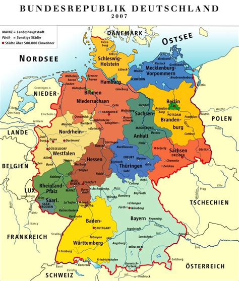 germany map states germany road map pdf