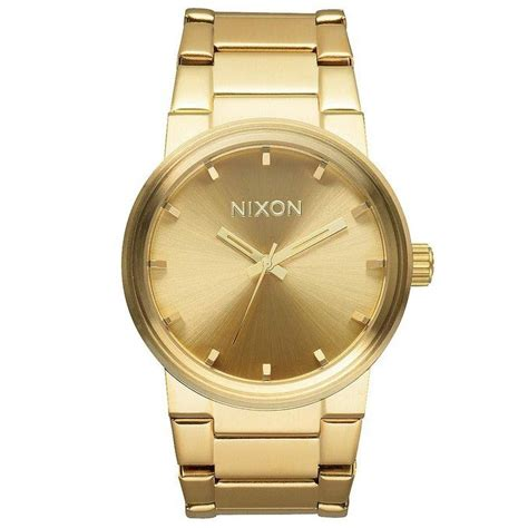 Nixon A160502 Cannon All Gold nixon the cannon a160502 unisex gold plated a