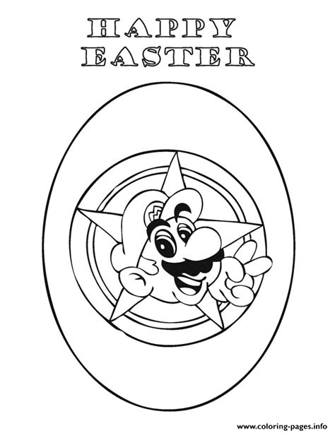 Mario Easter Coloring Pages | happy easter mario coloring pages printable