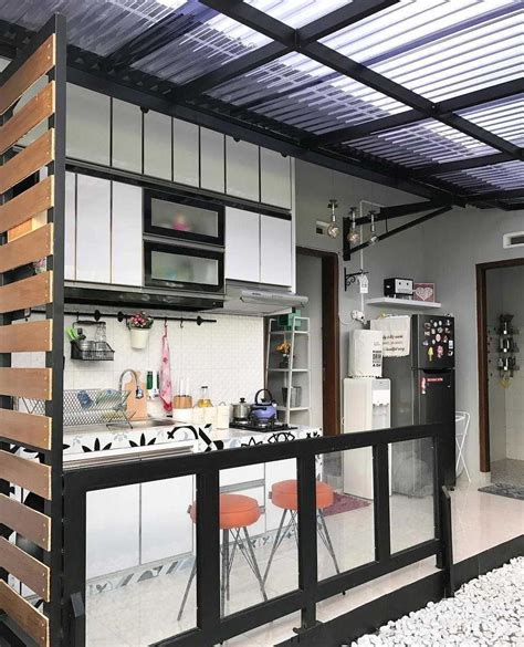 desain dapur terbuka taman foto desain dapur semi outdoor di belakang rumah desain