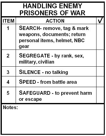 LEGAL ASPECTS OF WAR - Handling of enemy prisoners of war