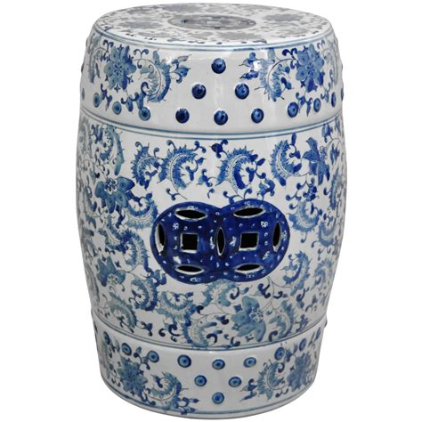 Garden Stool Blue White by 18 Quot Floral Blue White Porcelain Garden Stool