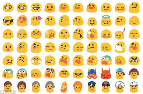 text emojis for android overhauls android emojis in complete redesign daily mail