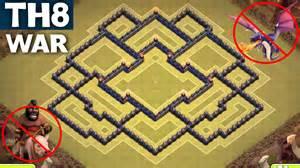 Best th8 war base anti gowipe town hall 8 anti dragon anti hog
