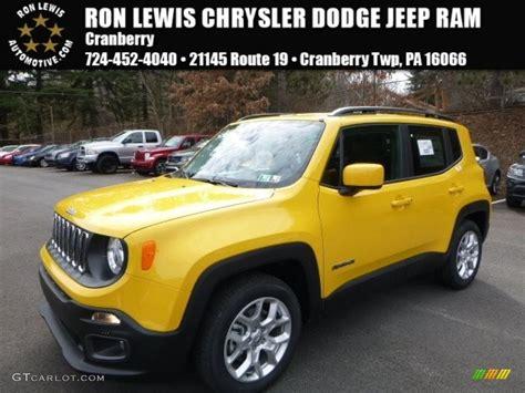 yellow jeep interior 2016 solar yellow jeep renegade latitude 111328343