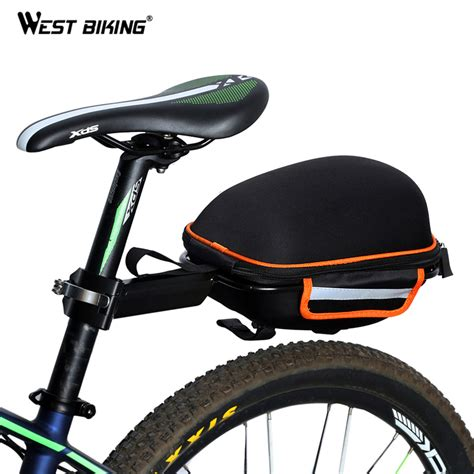 road bike rain west biking bike rear bag reflective waterproof rain cover